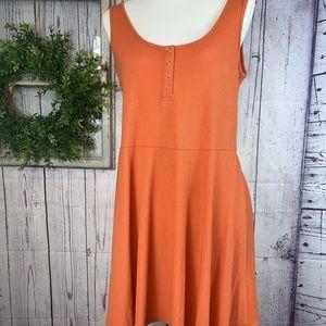 NWT Chelsea & violet WOMANS orange dress SZ.XL